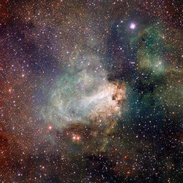 3 VST image of the Omega Nebula (120 x 120 cm) VERKOCHT