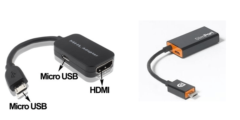Adaptateurs mhl et slimport micro-usb vers hdmi