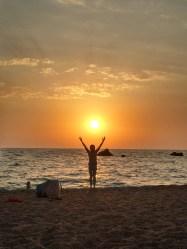 sunset ionio