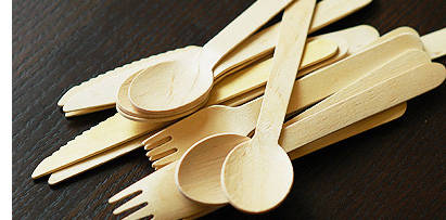 Disposable Wooden Cutlery Biodegradable Compostable