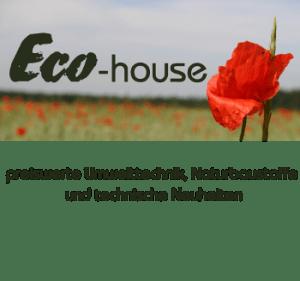 eco-house Naturbaustoffe Energiesparen Regenwasser Kamine