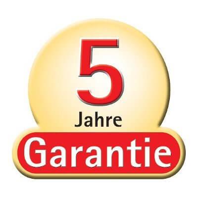 Graf 5 Jahre Garantie