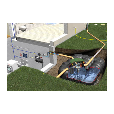 Graf Platin Regenwassertank und Zubehör Komplettpaket Haus-ECO-Plus