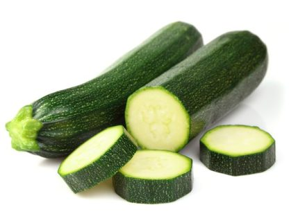 one whole courgette on sliced