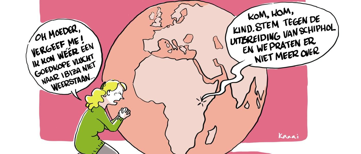 Vluchtgedrag: een herkenbare striptekening door Kanai