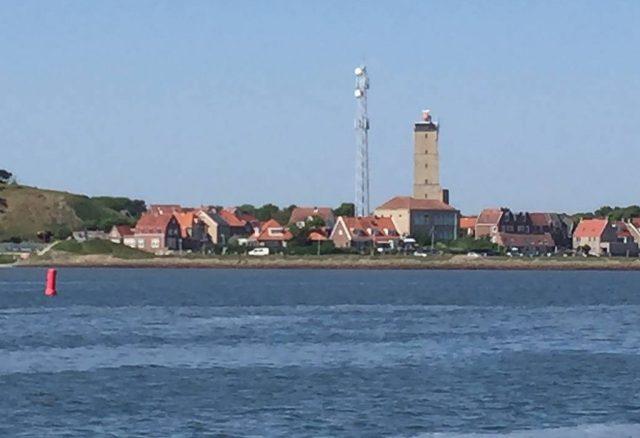 de Brandaris tijdens boot en fiets door Noord-Nederland