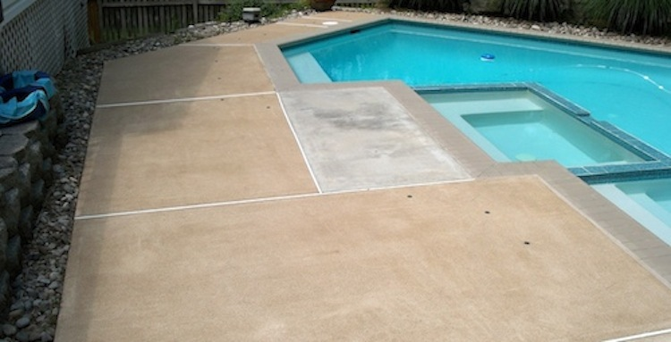 black mildew removal from concrete pool