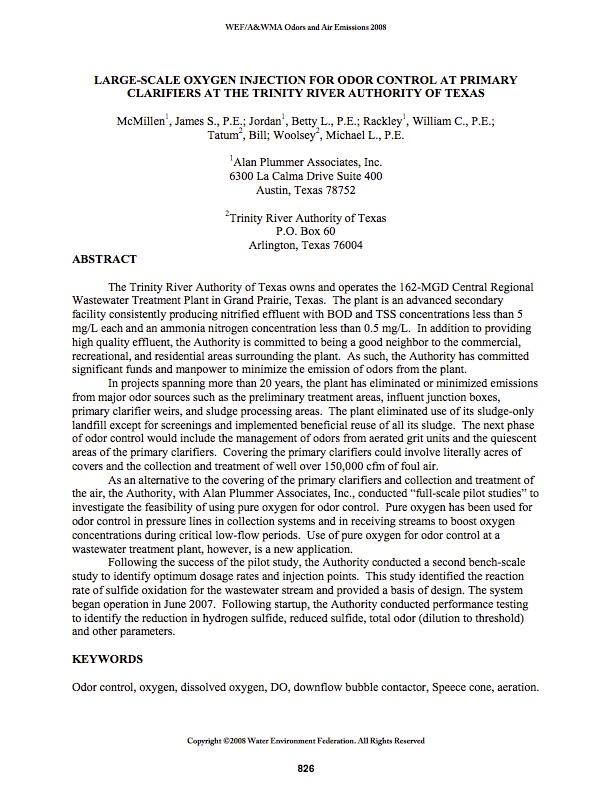 WEF Odor 2008 Paper image