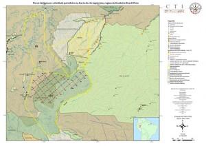 Actividad sísmica en la cuenca del Yaquerana. Elaboración CTI