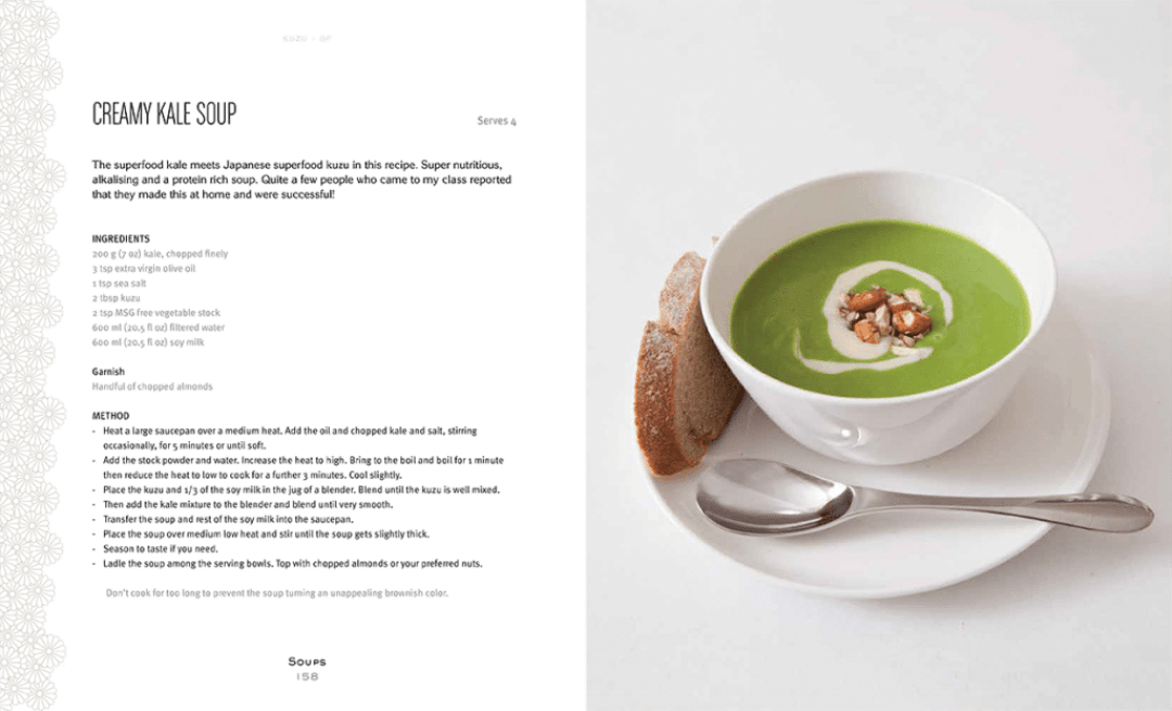 Creamy Kale Soup - Japanese Superfoods