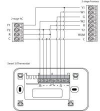One Two Furnaces Gas Furnace Thermostat Wiring Diagram