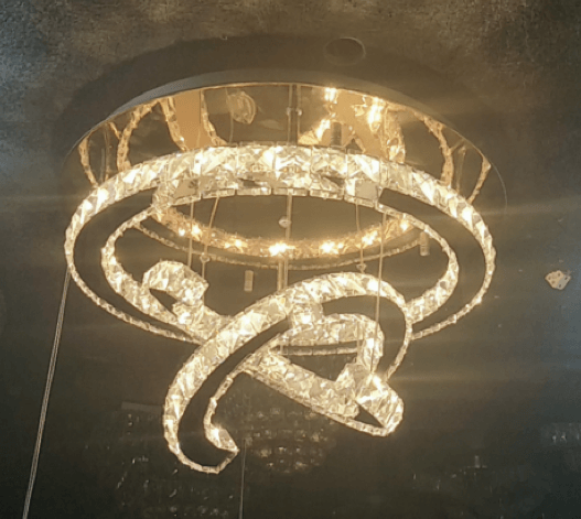 Hanging Cs Crystal Chandelier