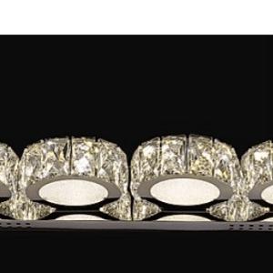 4 round crystal wall light