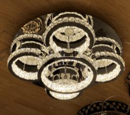 large floral flush crystal chandelier