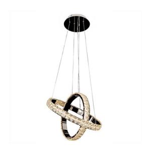 Hanging rings crystal chandelier
