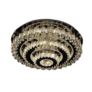 Flush 3 Tier Spiked Round Crystal