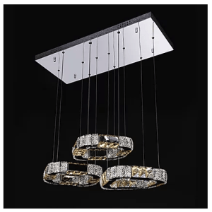 Hanging Square Crystal Chandelier
