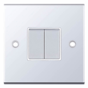 Polished Chrome Light Switch
