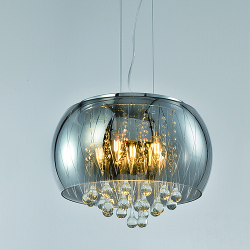 Indoor Lighting Chandeliers Smoke Grey Hanging Ceiling Light – CP19