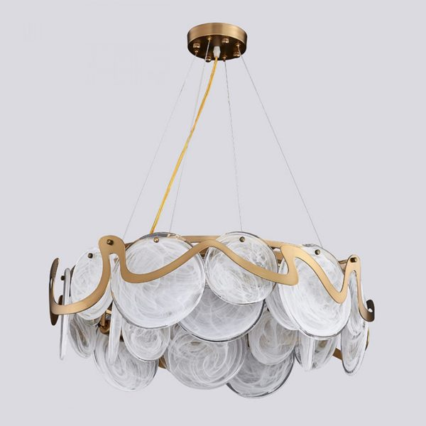 marble ceiling chandelier