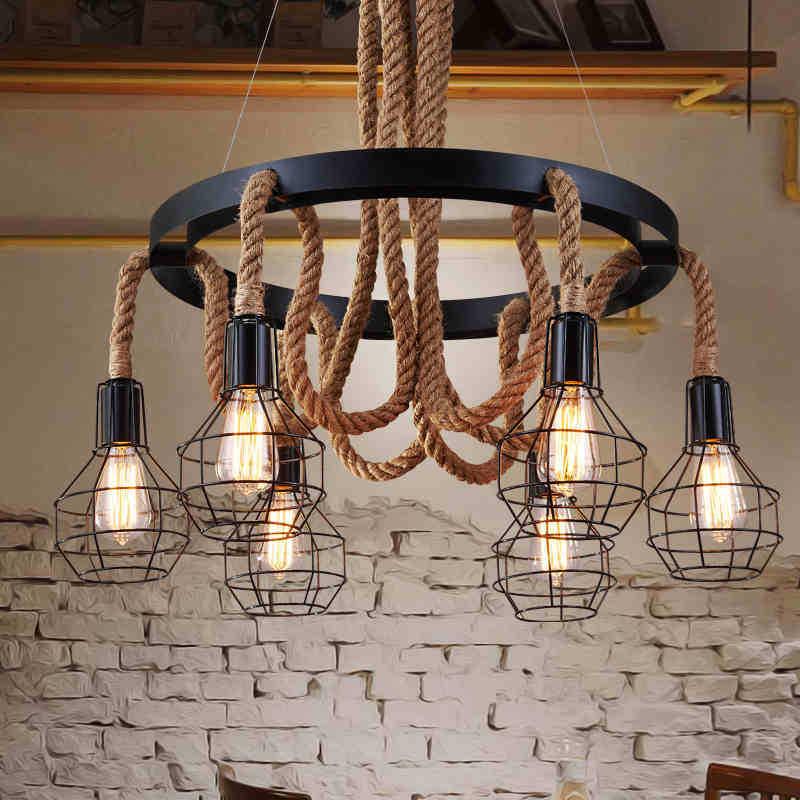 Hanging Rope Pendant Light
