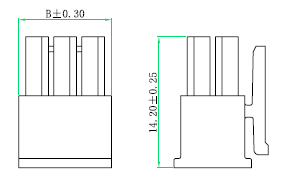 Custom Battery Cable Harness Waterproof Molex 43025