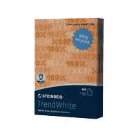 TrendWhite A4 Recycled White Copy Paper 80gsm (Ream of 500 sheets)