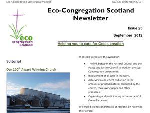 Eco-Congregation Newsletter