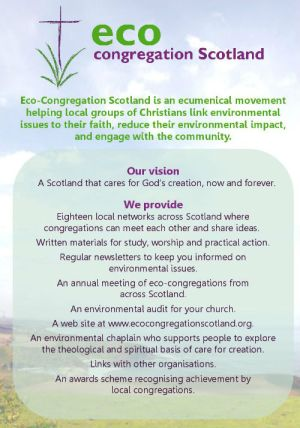 Eco-Congregation Scotland flyer