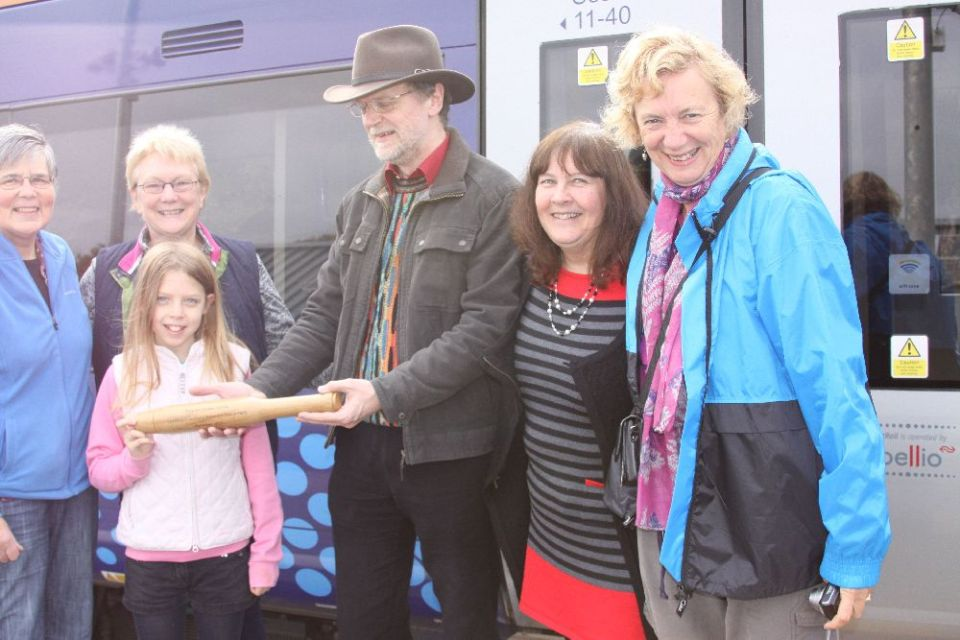 10. Baton arrives back in the Borders
