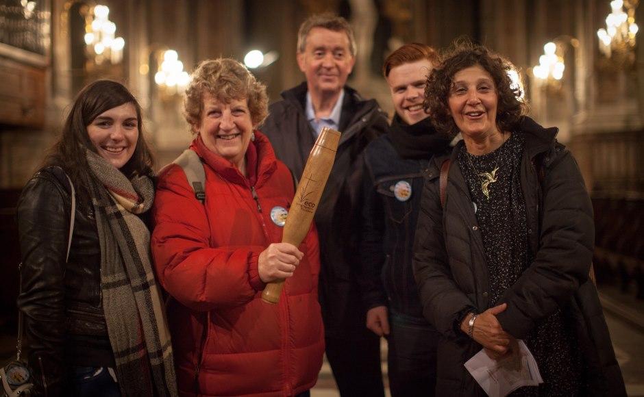 climate pilgrims arrive in Paris for COP21