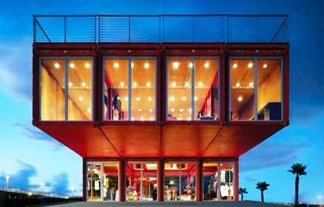 The Puma City Retail Shipping Container