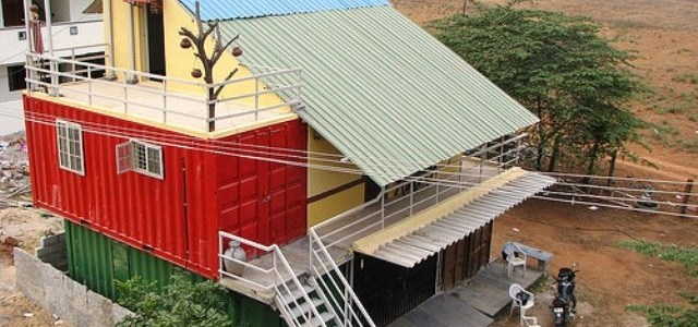 """Dabba Mane """"Box House"""". A Shipping Eco Container Home, Bangalore, India."""