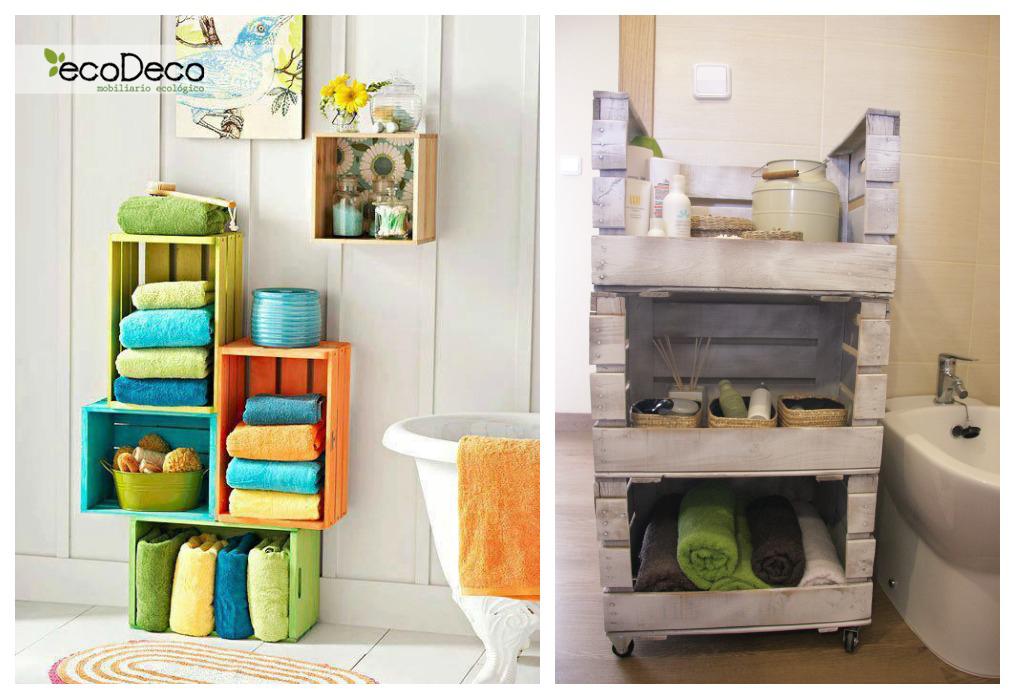 Estanteras con cajas de fruta  ECOdECO Mobiliario