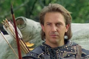 "Kevin Costner in ""Robin Hood"""