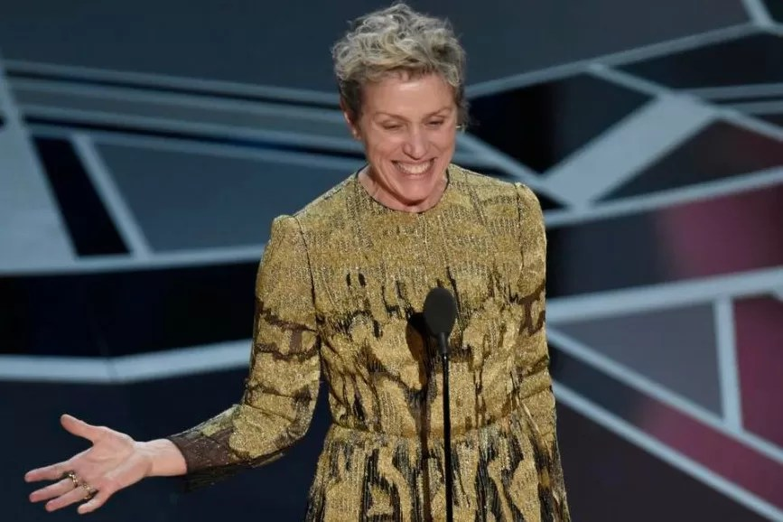 Frances McDormand discorso Oscar 2018