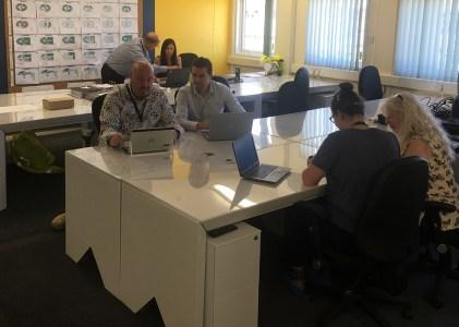 Skanska embraces sustainability with ECO360 cardboard desk