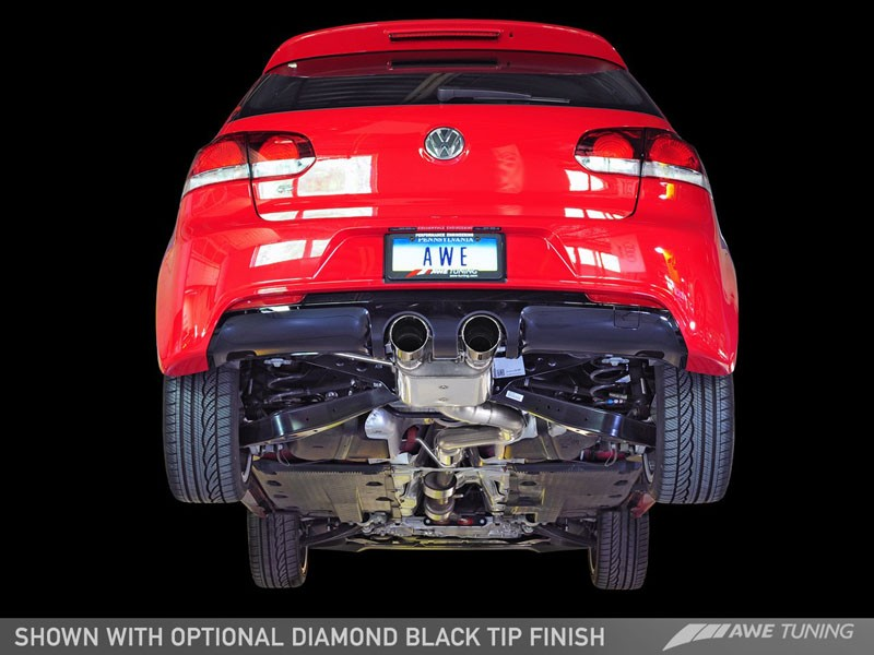 awe switchpath exhaust for mk6 golf r with activator diamond black tips