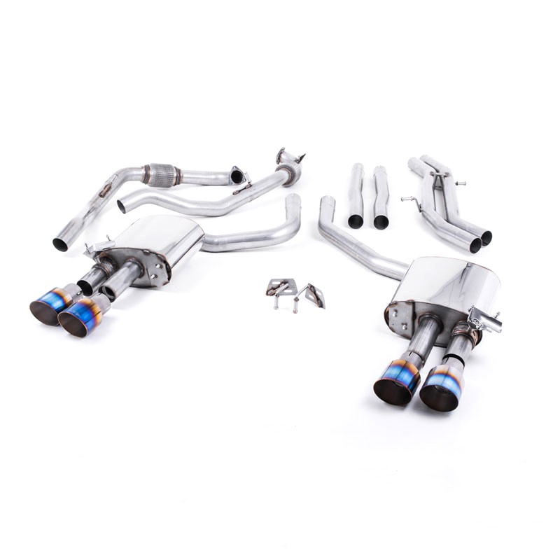 Milltek Sport Audi B9 S4/S5 Turbo V6 Cat-Back Non