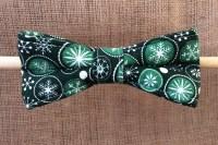 Christmas Green Snowflake - Bow Tie