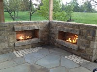 Pictures of outdoor natural gas propane fireplaces with ...