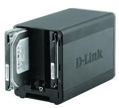 NAS D-Link para 2 HDs (tampa aberta)