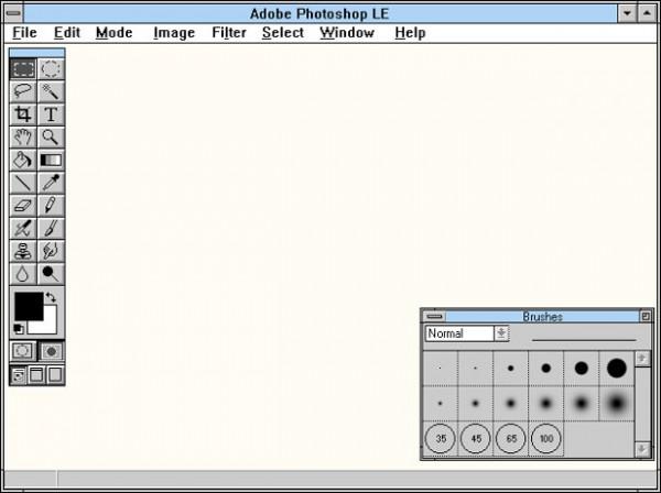 1991 - Adobe Photoshop versão 2.0 - área de trabalho