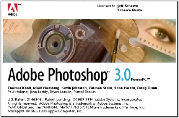 1994 - Adobe Photoshop versão 3.0