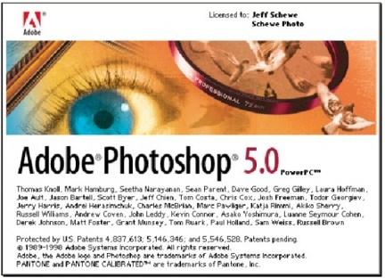 1998 - Adobe Photoshop versão 5.0