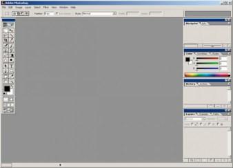 2000 - Adobe Photoshop versão 6.0 - área de trabalho