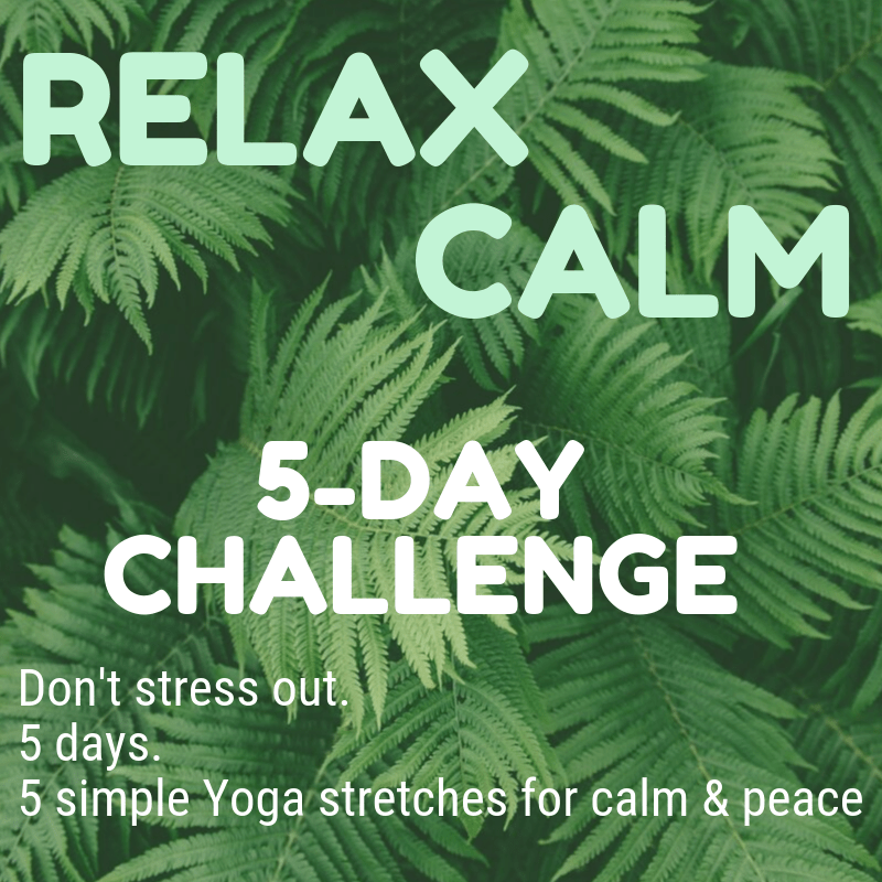 5-day Yoga to De-Stress Challenge Advert
