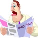 constant bad news makes you less optimistic