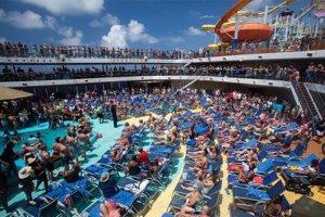 crowded cruise ship