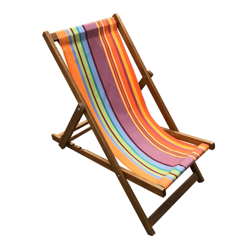 Multi Stripe Deck Chair  Eco Furniture Hire London